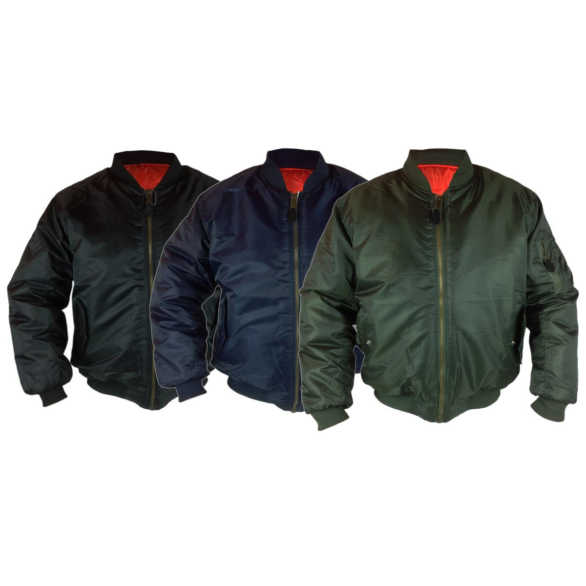 ee9859d5e Classic MA1 Military Pilot Flyer Bomber Jacket Reversible with Heavy Duty  METAL ZIP